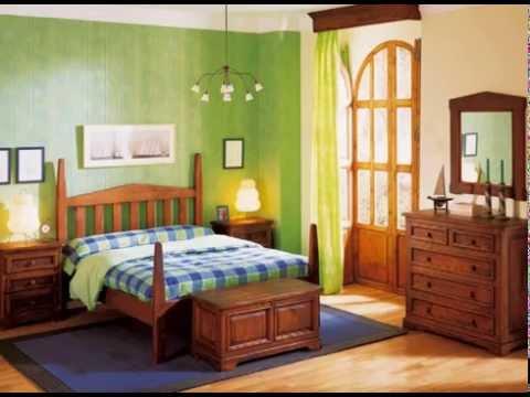 Dormitorios rusticos con camas y armarios - YouTube