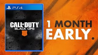 BLACK OPS 4 RELEASES ONE MONTH EARLY!! *Officially Confirmed*