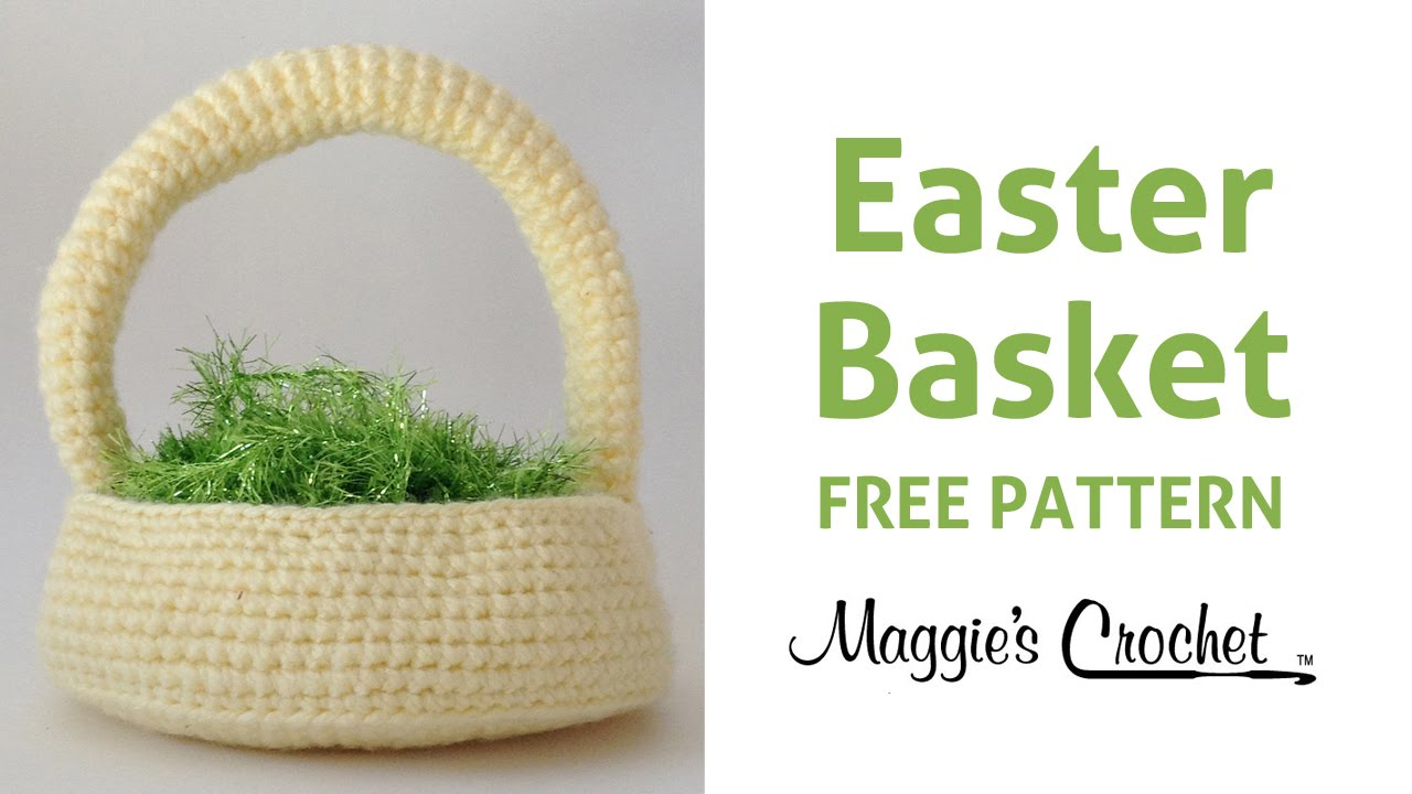 Free Crochet Patterns For Easter Bunny Baskets : Easter Basket Free Crochet Pattern - Right Handed - YouTube