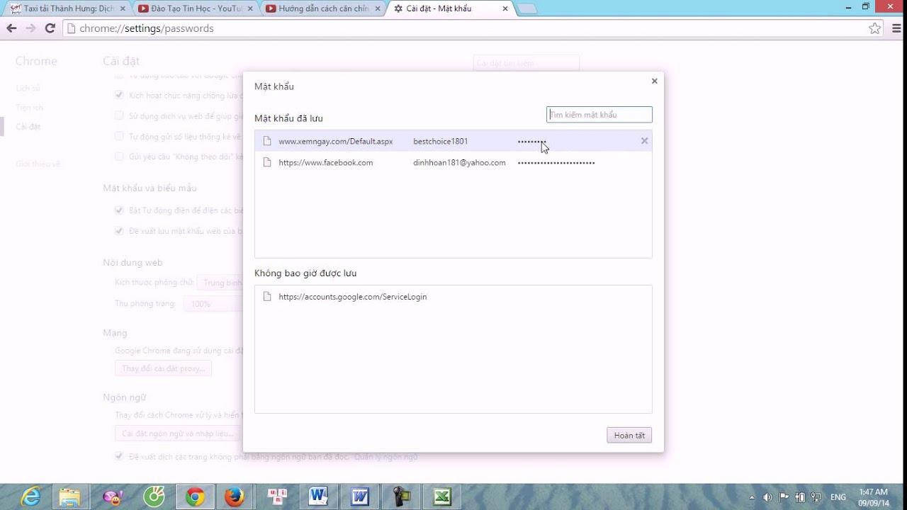 Cách xem và xóa mật khẩu đã lưu trên Google Chrome