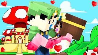 Minecraft - WHO'S YOUR MOMMY? - BABY LUIGI KISSES PRINCESS PEACH!