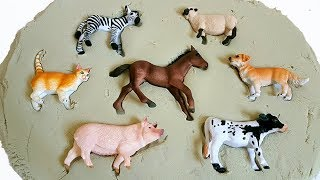 Learn Farm Animals Puzzle NEW, Animal TOYS: Horse, Cat, Pig, Dog, Cow