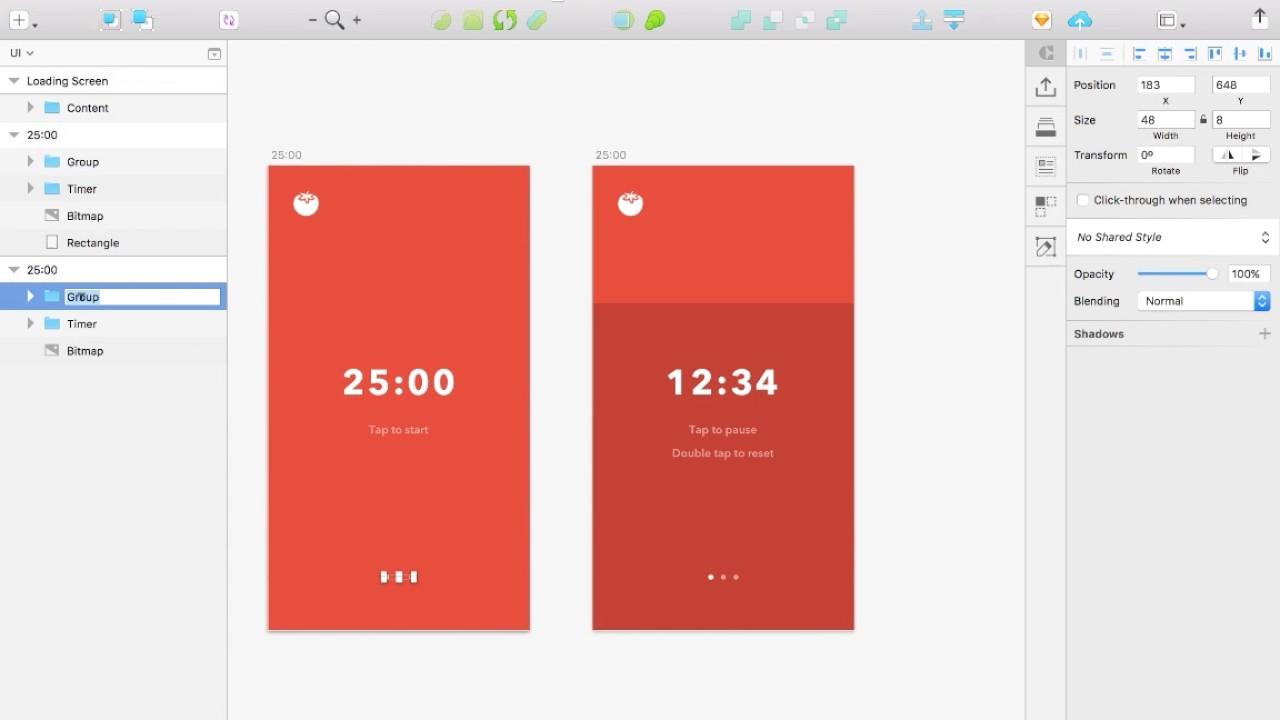 Pomodoro Timer - Mobile App Design