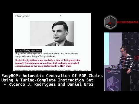 #HITB2018AMS CommSec D2 - Automatic Generation of ROP Chains -   Ricardo. J. Rodríguez & Daniel Uroz