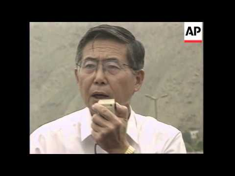 PERU: LIMA: HOSTAGE CRISIS: PRESIDENT FUJIMORI SPEAKS ABOUT SITUATION