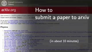 How to submit a ṗaper to arxiv