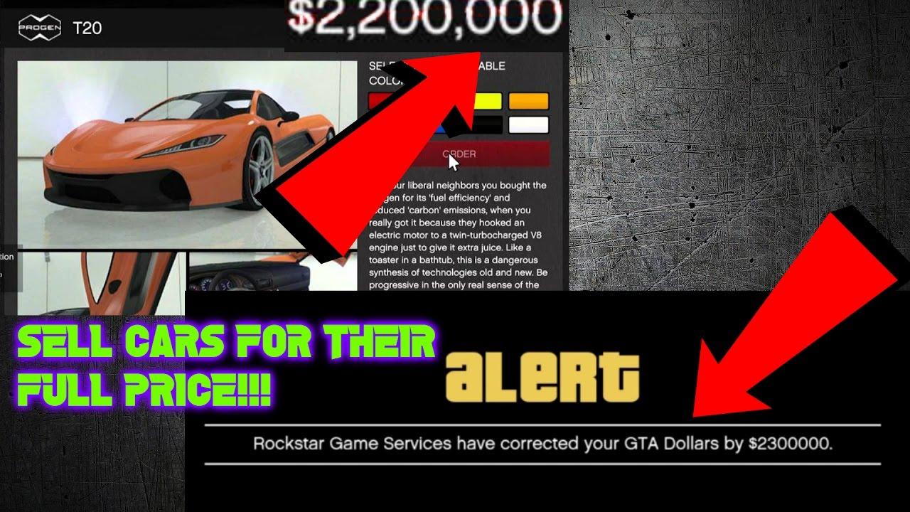 gta 5 online sell cars for the price you bought them for youtube. Black Bedroom Furniture Sets. Home Design Ideas