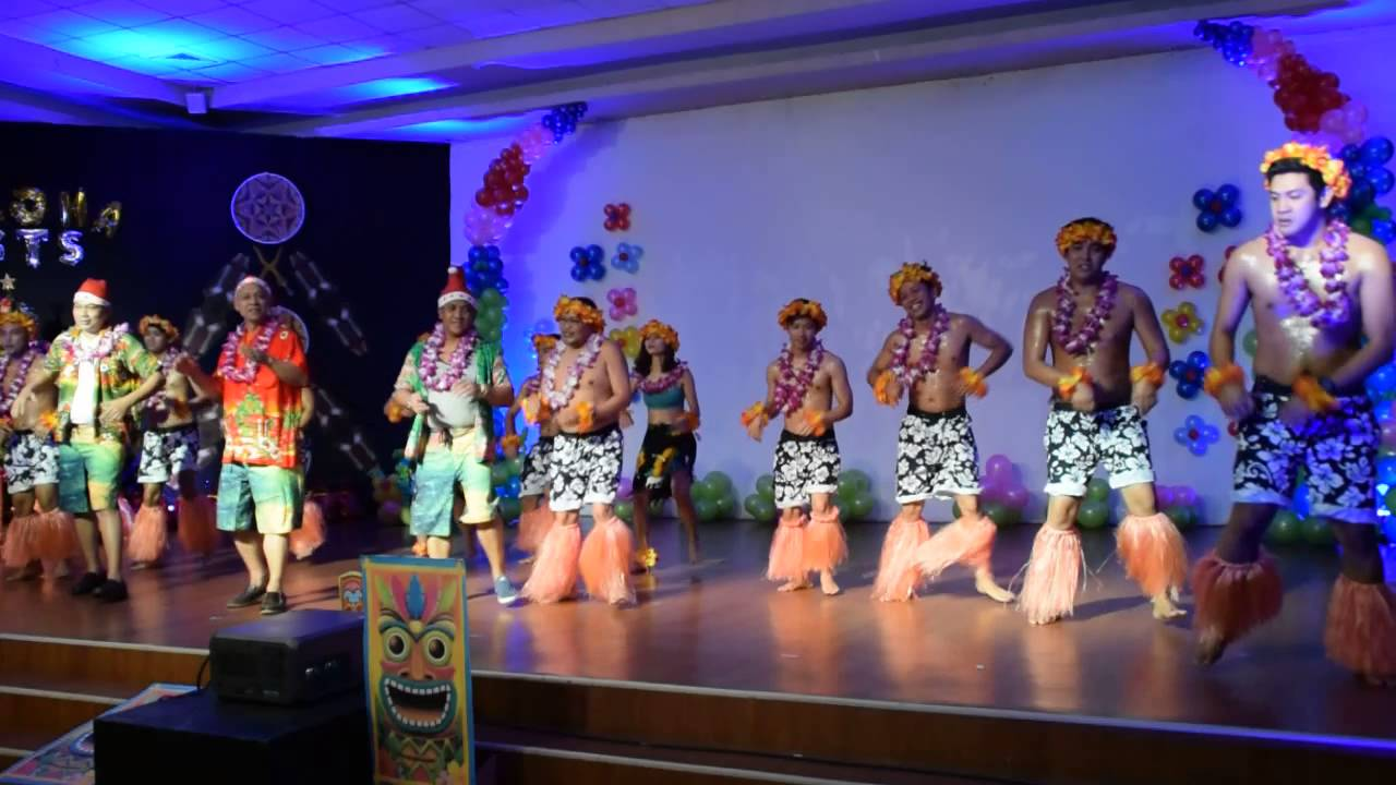 testing dance sts hawaiian themed christmas party 2015 youtube