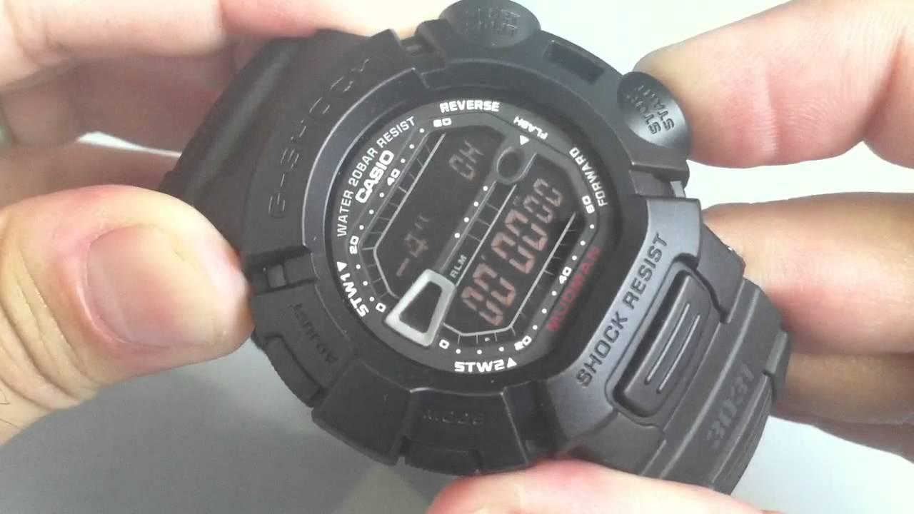 casio g shock mudman military blackout watch g9000ms 1 youtube rh youtube com Casio G-Shock Solar Atomic Casio G-Shock Solar Atomic