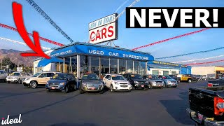 NEVER Buy A USED Car From A Used Car Dealer!