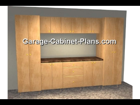Garage Storage Cabinet Plans - YouTube