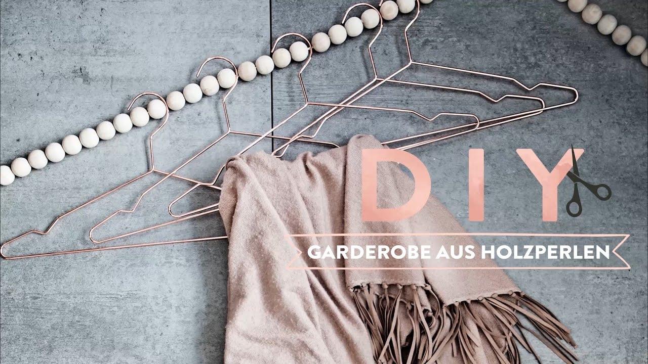 Kronleuchter Mit Holzperlen ~ Garderobe aus holzperlen westwing diy tipps youtube