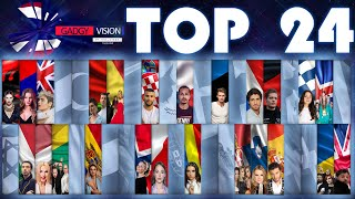 My Top 24 | Eurovision 2020 w.TH&ENG comment [From Thailand] / 24 อันดับเพลง Eurovision 2020