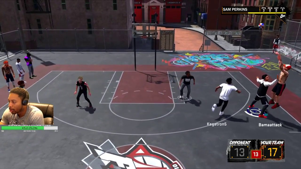Download PARK WITH ANONYMOUS2KTV AND TMIZZZLE - 7'3 TWO-WAY STRETCH FTW - NBA 2K18 PLAYGROUND