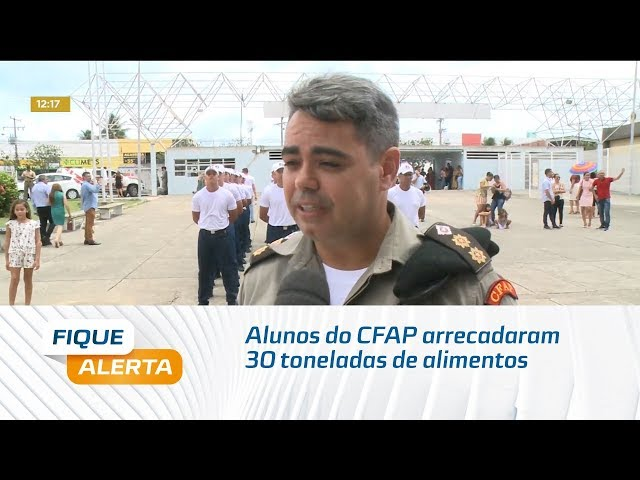 Alunos do CFAP arrecadaram 30 toneladas de alimentos