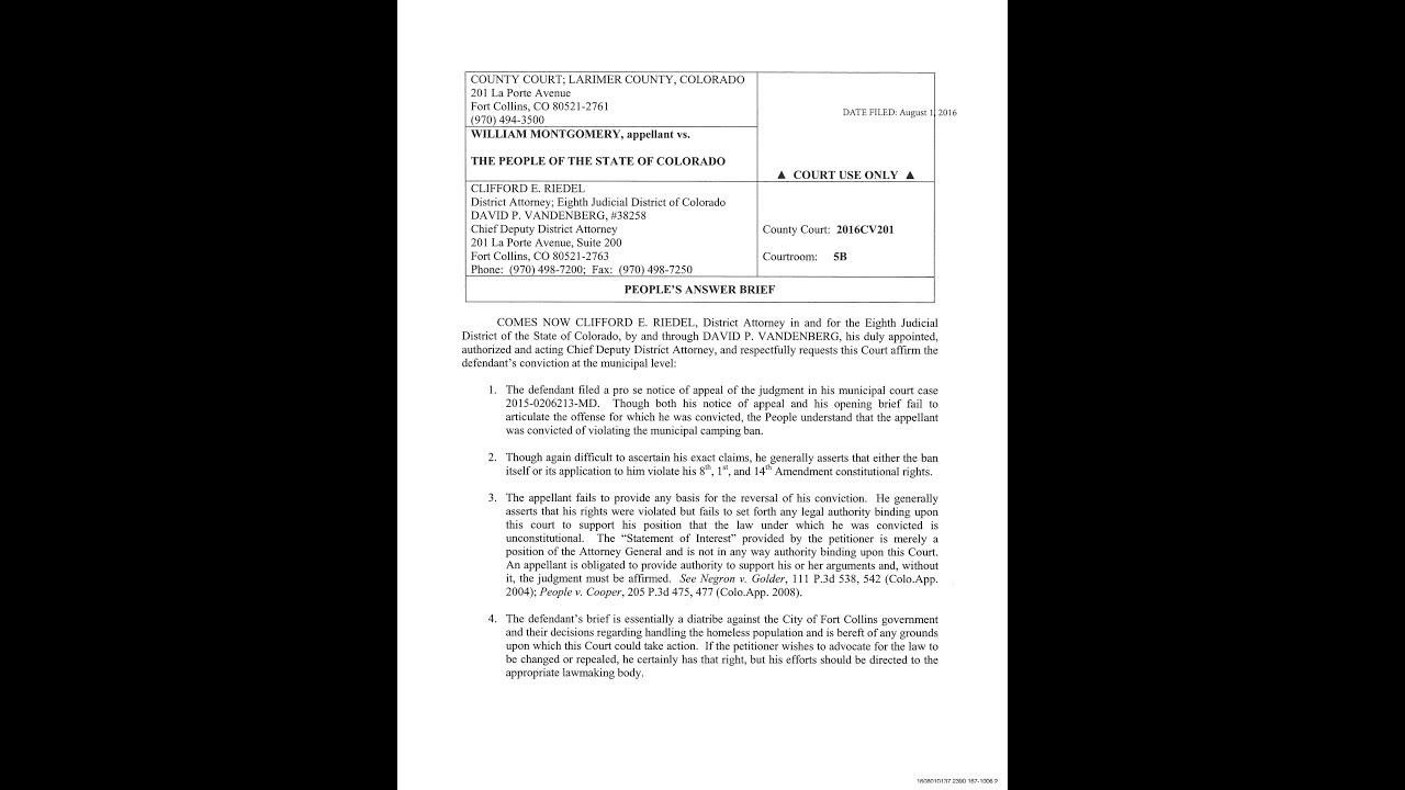 2016/08/01 - The DA Files An Answer Brief In William\'s Municipal ...