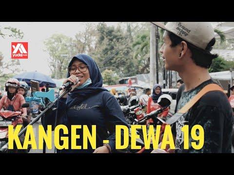 Kangen Dewa 19 - Cover Akustik Musisi Jalanan Malang feat Gadis Berjilbab