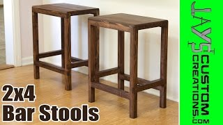 How To Make 2x4 Half Lap Bar Stools - 166