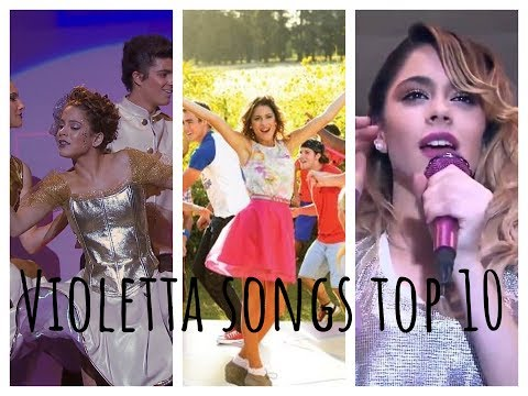 Top 10 most and less watched Violetta songs (2017)