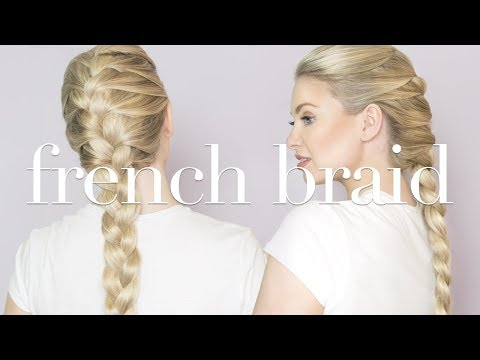 How To French Braid With Hair Extensions Milk Blush Hair Extensions Youtube