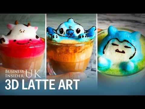Instagrammer uses coffee froth to make awesome 3D latte art