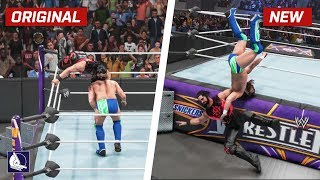 WWE 2K19 Top 10 More New Moves Variations (Animations)