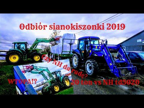 Odbiór Sianokiszonki 2019 20 Ton VS 75km II JohnDeere 6620 II New Holland Td5020 II Pronar T026M II