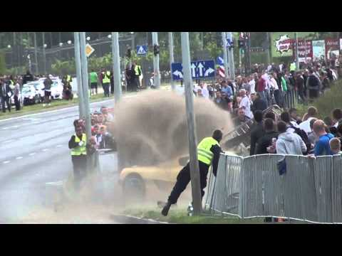 Koenigsegg CCR Crashes into Crowd at Gran Turismo Polonia 2013 [18+]