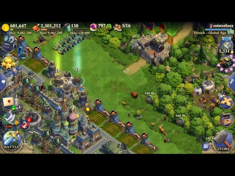 DomiNations: Global/Atomic Age Raids with Maximus