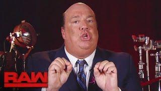 Paul Heyman warnt Goldberg zum letzten Mal: Raw, 17. Oktober 2016