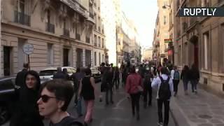 Жёлтые жилеты вышли на акцию протеста в Париже  LIVE
