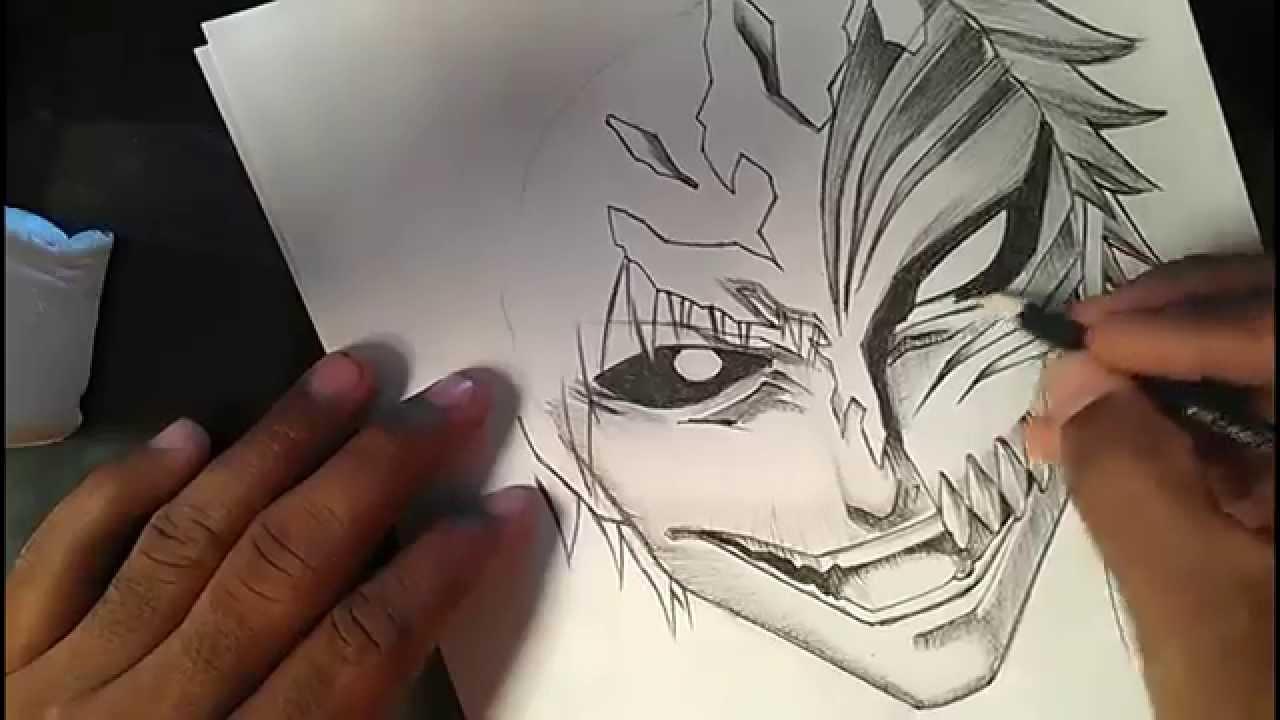 Speed drawing manga ichigo kurosaki of bleach youtube