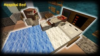 Minecraft - How to make a Hospital Bed
