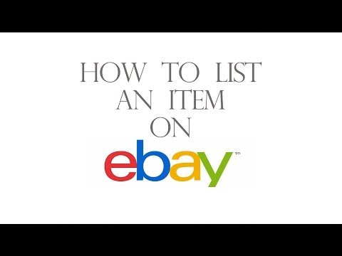 How to list an item on Ebay for beginners