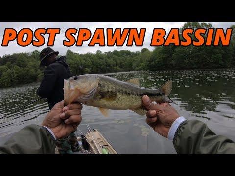 [INCREDIBLE Fishing] Post Spawn Crankin, Pitchin & Skipping  Piney Run Lake On Pelican Bass Raider