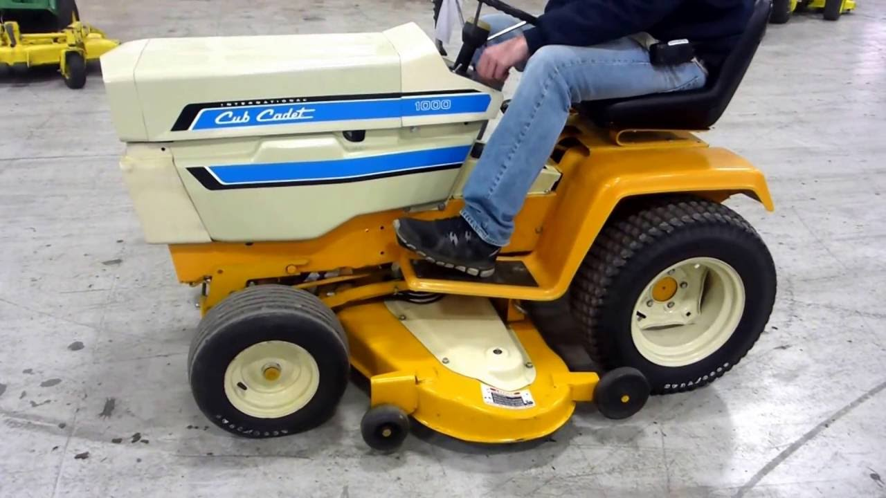 Vintage Cub Cadet 1000 Garden Tractor For Sale Online Auction Youtube