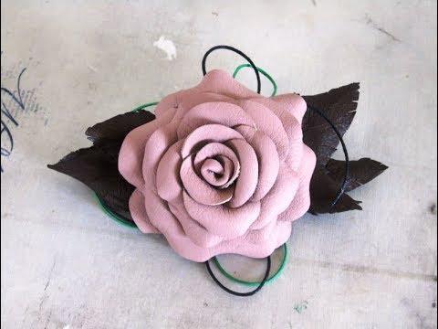 Цветок из искусственной кожи своими руками мастер класс