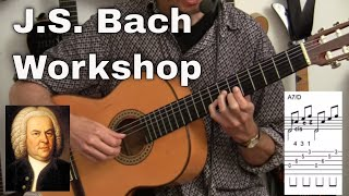 Bach Prelude in d BWV 999 plus Workshop