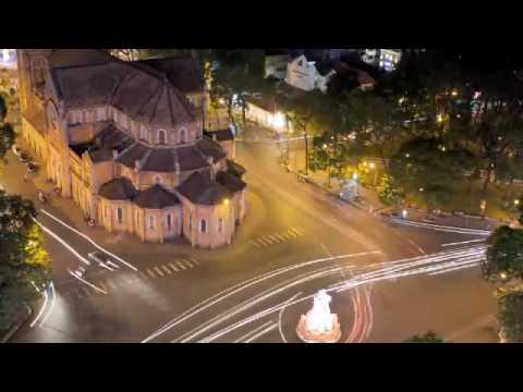 Saigon City Lights Timelapse, Vietnam
