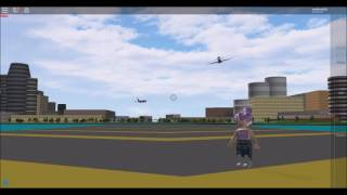 Planespotting with a Fan! (A Place With Airliners) ROBLOX