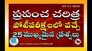 World History  25 Most  mportant GK Questions in Telugu