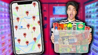 We Went To EVERY Vending Machine In Our City! *VENDING MACHINE FOOD CHALLENGE*