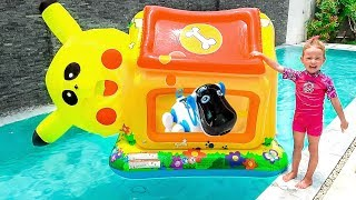 Milusik Lanusik Play with PlayHouse for kids and Giant Toys, Dog