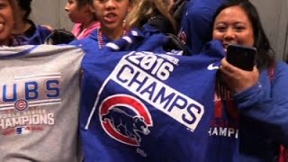 Cubs Fans Buying World Series Championship Gear