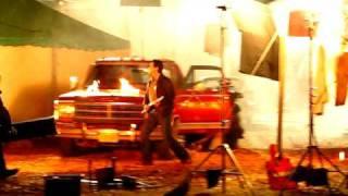 Lou Diamond Phillips filming the movie