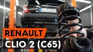 Ako vymeniť zadný pružina zavesenia kolies na RENAULT CLIO 2 (C65) [NÁVOD AUTODOC]