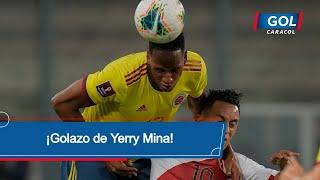 Perú vs Colombia: gol de Yerry Mina, siempre el 'panita': golazo de cabeza