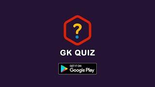 GK QUIZ - World General Knowledge Quiz 2020  | Free Android App Promo 1 | Red Nucifera screenshot 1