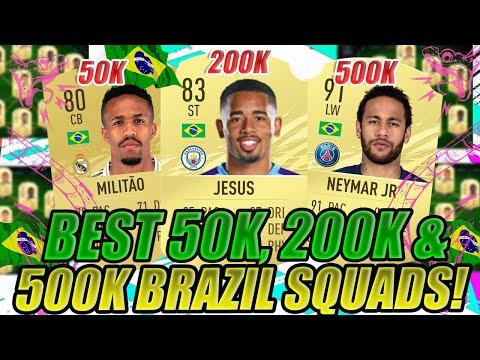 BEST BRAZIL STARTER SQUADS 50K, 200K, & 500K Squad Builder! | META PLAYERS FOR FIFA 21 ULTIMATE TEAM
