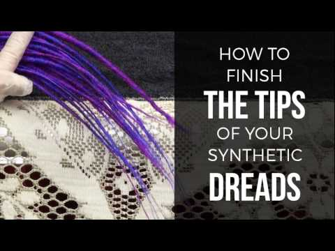 DIY How To Finish Synth Dread Tips - DoctoredLocks.com